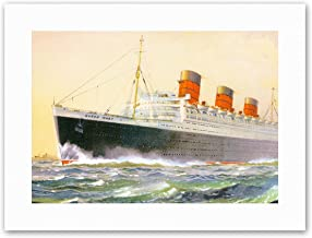 Wee Blue Coo Ship SAIL Boat RMS Queen Mary Picture Painting Canvas Art Prints
