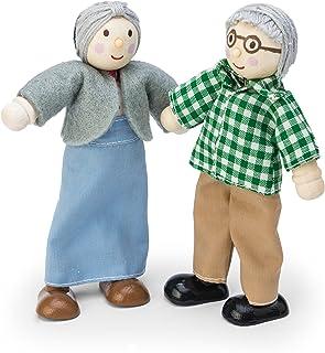 Le Toy Van - Trälekset för mor- och farföräldrar för dockhus | Daisylane dockhus tillbehörssats - lämplig för barn från 3 år.