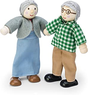 Le Toy Van Budkins Set of 2 Grandparent Posable Figures Premium Wooden Toys for Kids Ages 3 Years & Up