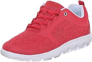 Propet Women's TravelActiv Sneaker, Watermelon Red, 7 Narrow