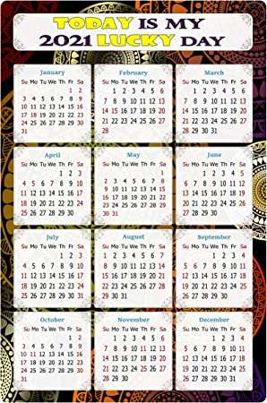 Pictures of Calendar Magnets 2021