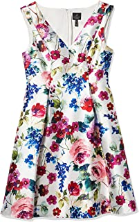 Women's Floral Mikado Midi Dress