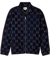Gucci Kids - Double G J Zip Sweatshirt (Little Kids/Big Kids)