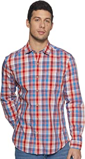 John Players Men's Checkered Slim fit Casual Shirt
