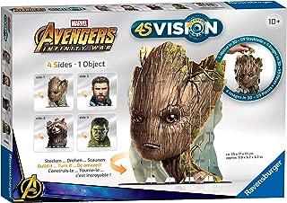 Ravensburger 4S Vision Marvel Avengers Infinity War 3D Puzzle [Groot, Rocket, Captain America & Hulk]