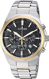 Men's ' Quartz Stainless Steel Casual Watch, Color:Two Tone (Model: AN8174-58E)