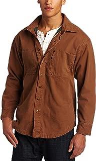 Key Apparel Men's Flannel Lined Duck Shirt Jacket - Brown