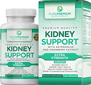 Premium Kidney Support Supplement by PurePremium (Kidney Cleanse Supplement) Potent Herbal Ingredients for Urinary Tract a...