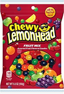 Lemonhead & Friends Chewy Fruit Mix, 5.5 Ounce Bag, Pack of 12