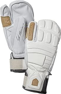 Hestra Waterproof Ski Gloves: Mens and Womens Pro Model Leather Winter 3-Finger Mitten