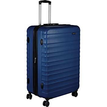 AmazonBasics Hardside Spinner, Carry-On, Expandable Suitcase Luggage with Wheels, 30 Inch, Navy Blue