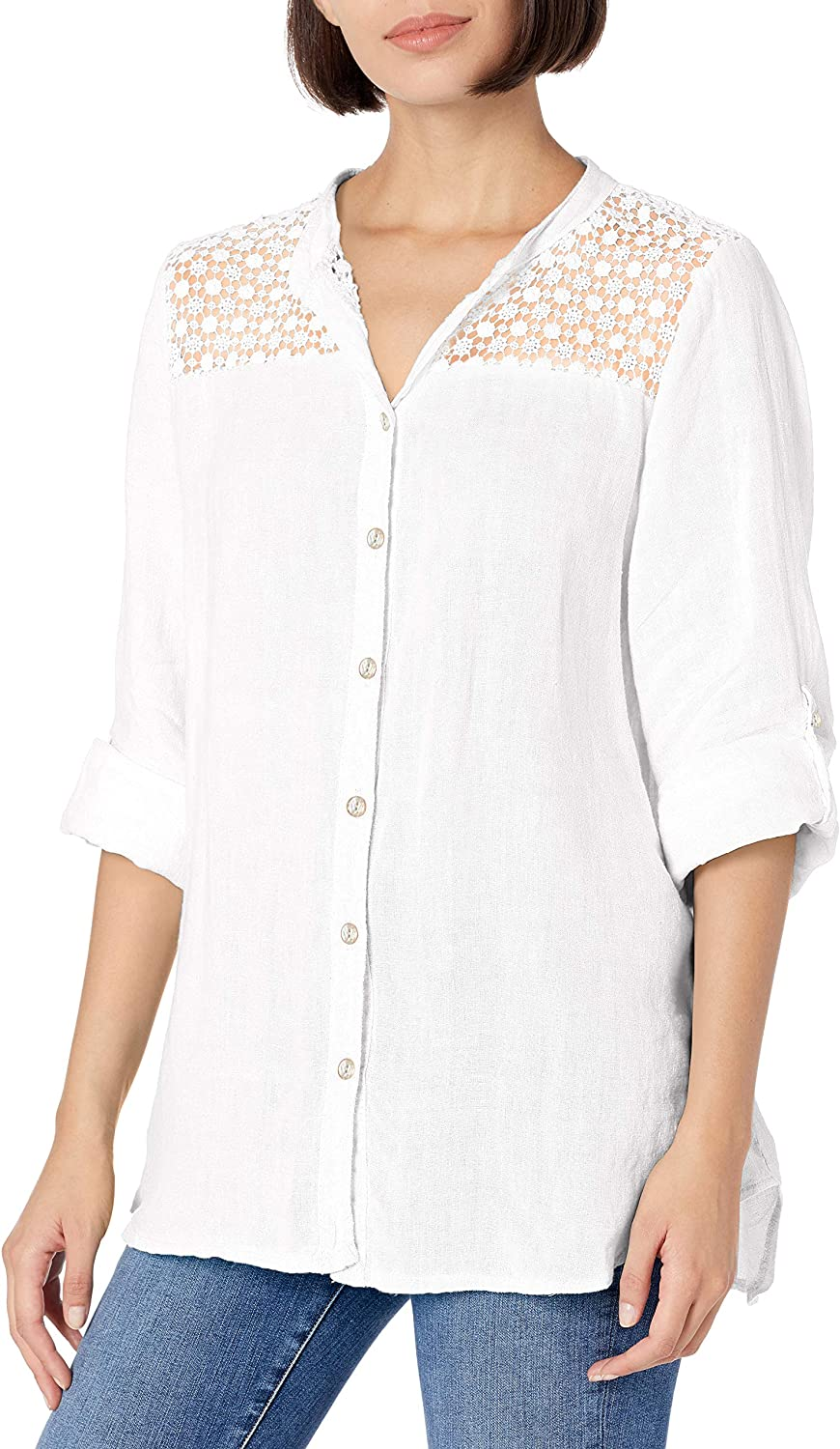 M Made in Italy Women's Button Down Shirt