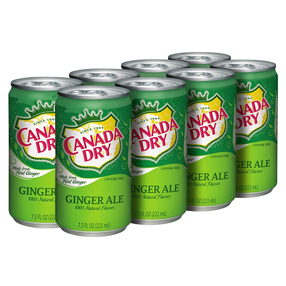 Canada Dry Ginger Ale in 7.5 oz Can (Case of 24)