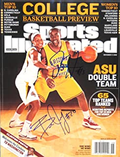 Harden, James & January, Briann 11/17/08 autographed magazine