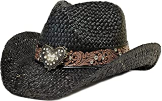 Bling Western Hat Heart & Rhinestones/Black