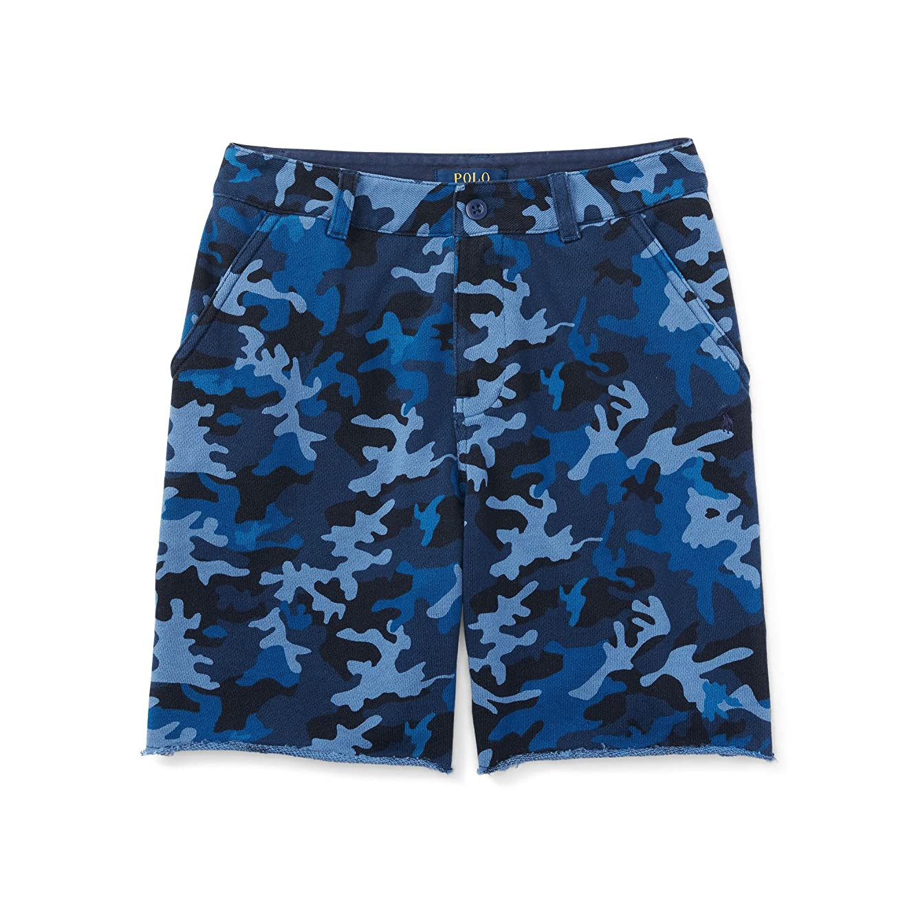 Polo Ralph Lauren Little Boys' Camo Cotton Terry Short, Blue Camo