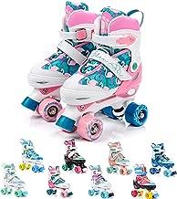 Patines 4 Ruedas Ajustable Disco Roler Skate Patines en Paralelo Retro Quad Skate Patines para Niños Adolescentes y Adultos tamaño Ajustable del Zapato