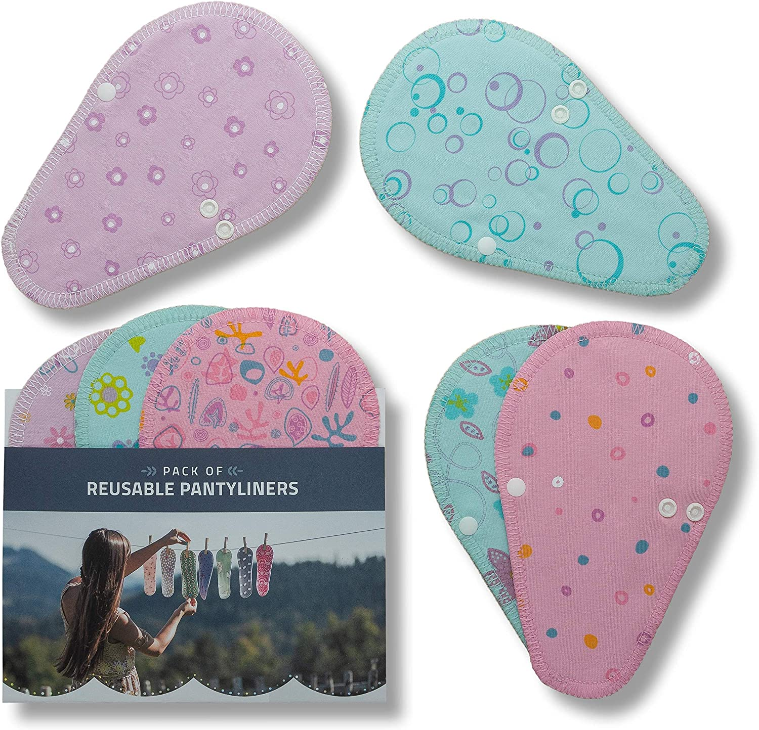 Max 59% OFF depot Reusable Panty Liners for Women Small 7-Pack Organ Mini THONG;