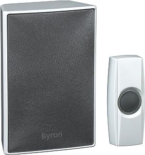 Byron BY601E Wireless doorbell set - Byron BY601E Wireless doorbell set, Grey, White, Wireless, 200 m, Battery
