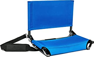 Cascade Mountain Tech Folding Stadium Seat for Benches and Bleacher with Shoulder Strap