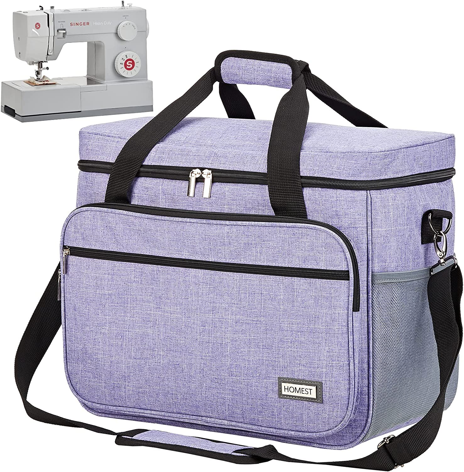 HOMEST Sewing Max 44% OFF Machine Carrying Case Unive with Pockets Multiple Max 63% OFF
