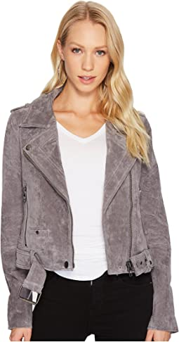Blank NYC Moto Jacket in Silver Screen