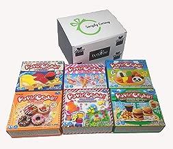 Popin' Cookin Diy Candy Kit (6 Pack Varieties) - Tanoshii Bento, Cakes, Sushi and Donuts, Hamburger, and Kawaii Gummy Land in Fusion Select Gift Box