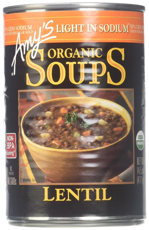 Amy's Organic Soup Light in Lentil Sodium 14.5 oz Cheap sale Regular store