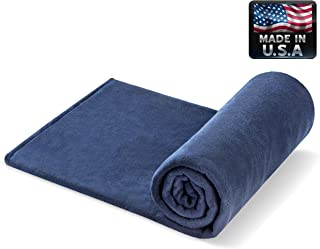 Melissa's Weighted Blankets Made in The USA (5lbs Child Size) Navy 10 Varieties of Fleece and Flannel Combinations 27 Different Size and Weight Options Small 48