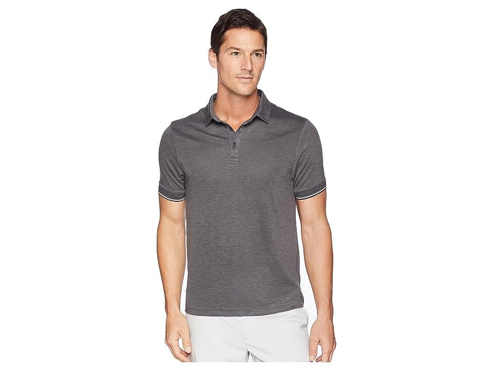TravisMathew Mag Bay Polo (Grey Pinstripe/Black) Men