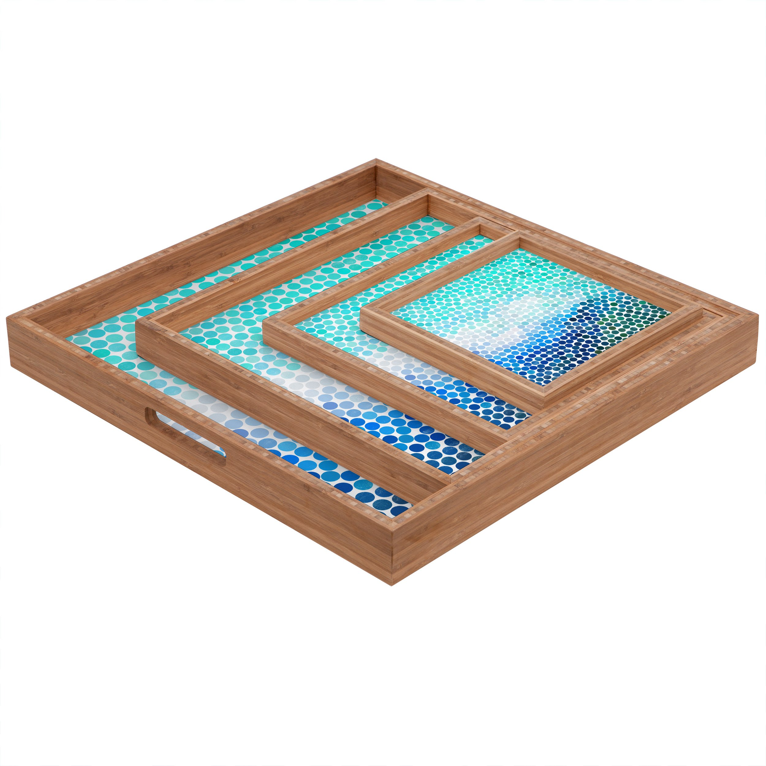 Deny Designs Garima Dhawan Unfolding 2 Indoor//Outdoor Rectangular Tray Large//14 x 18