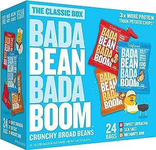 Bada Bean Bada Boom Plant-Based Protein, Gluten Free, Vegan, Crunchy Roasted Broad (Fava) Bean Snacks, 100 Calorie Packs, ...