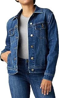 Lee Womens 35304P Petite Iconic Regular Fit Jacket Denim Jacket - Blue