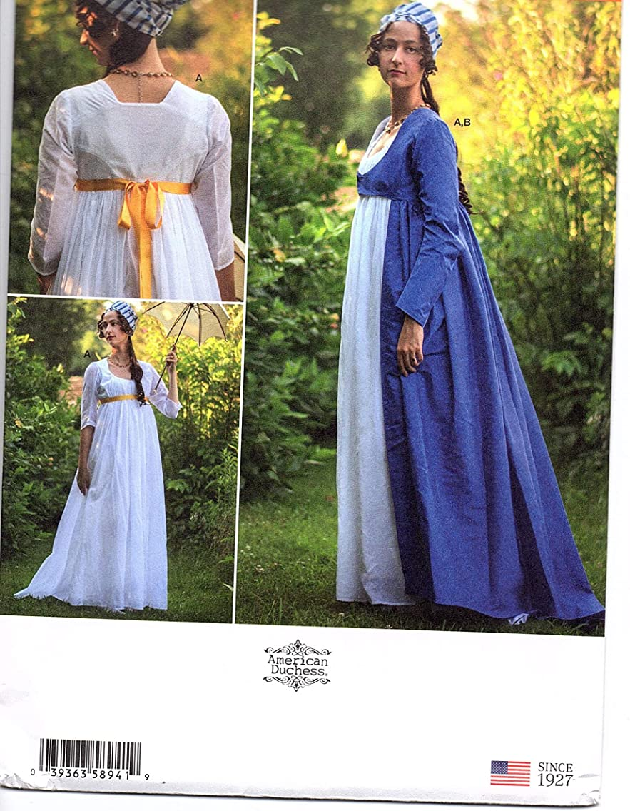 Simplicity Sewing Pattern S8941 H5 - Use to Make - Misses Sizes 6-14 Costumes - American Duchess Gown