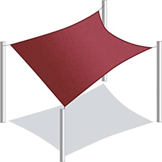 ALEKO SS03REC18X18BG Sun Shade Sail Square Water Resistant Canopy Tent Replacement for Yard Patio Pool 18 x 18 Feet Burgundy