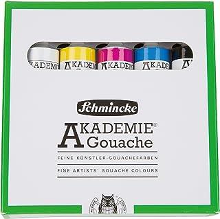 Schmincke Künstlerfarben, Gouachefarben, Akademie® Gouache, Kartonset, 5 x 20 ml Tuben