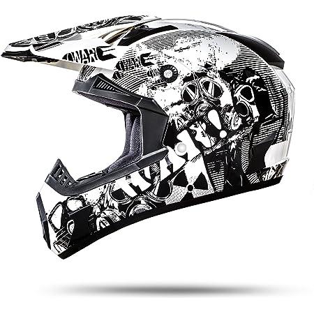 Ato Moto Nevada Weiß Größe M 57 58cm Motocrosshelm Mit Ausziehbarer Sonnenblende Und Der Neusten Sicherheitsnorm Ece 2205 Auto