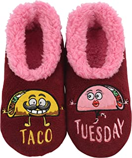 Snoozies Pairables Womens Slippers - House Slippers - Taco Tuesday