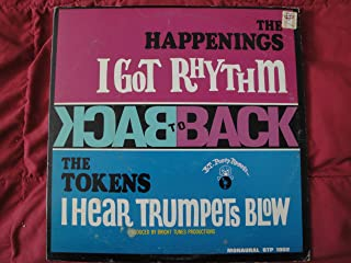 """The Happenings & The Tokens """"Back to Back"""" 1967 B.T. Puppy Records BTP 1002 Mono Vinyl Lp Pop Rock Record EX"""