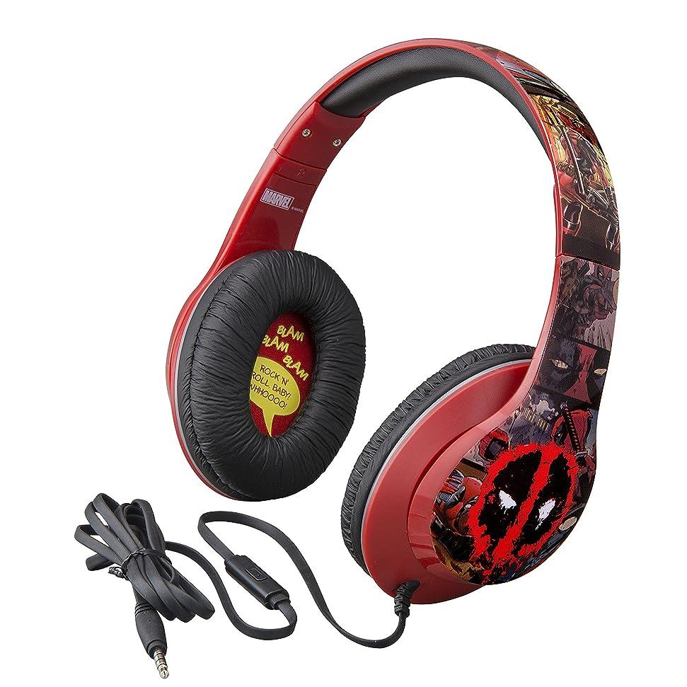 また明日ね出席知り合いになるデッドプールover the ear headphones with Built inマイク品質サウンドfrom the Makers of iHome