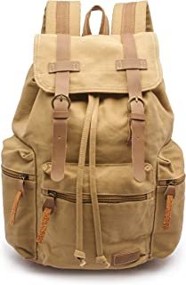 Sweetbriar Vintage Canvas Backpack, Tan - Protects Laptops up to 15.6 Inches