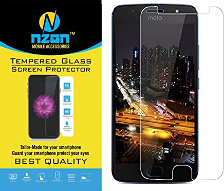 nzon Nano 2.5D Curved Scratch Proof Bubble-free 0.3 mm Tempered Glass for Moto G5s Plus (Clear)
