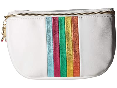 Betsey Johnson Between the Lines Belt Bag (White) Bags