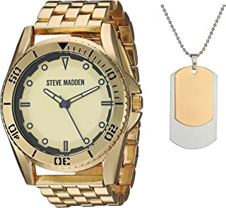 Men's Watch and Necklace Set SMWS064