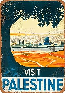 Wall-Color 7 x 10 Metal Sign - Visit Palestine - Vintage Look