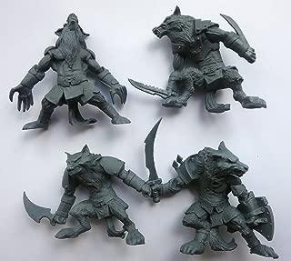 Fantasy Battles Werewolf set 54 mm 1/32 - 4 Fantasy Figures Tehnolog Russian Toy Soldiers