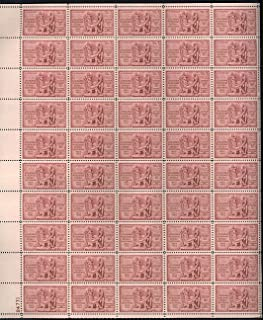 Louisiana Purchase 150th Anniversary Complete Sheet of 50 3 Cent Stamps Scott 1020