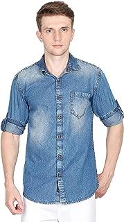 Carbonn Blue Men Denim Shirt Full Sleeve