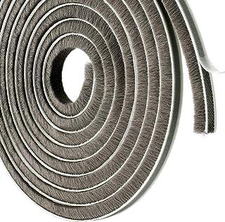 Weather Stripping Self-Adhesive Felt Door Brush Strip Door Seal Strip for Sliding Doors Windows Wardrobe Seal 11//32in x 1//5in x 32.8ft, Grey