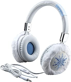 eKids Frozen II FR-M48.EXV9M Faux Fur Headphones with Microphone(Blue/White)